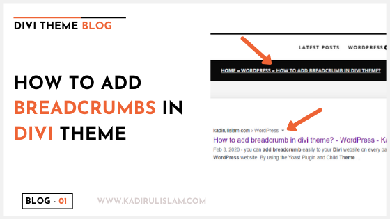 How to add breadcrumb in divi theme?