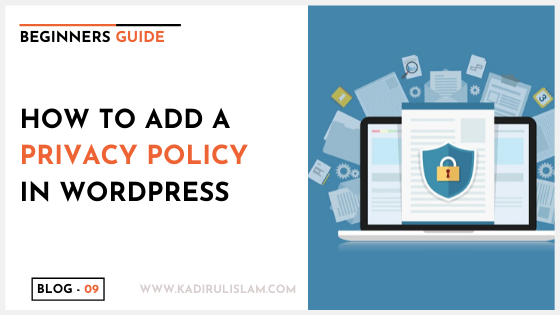 How to add a privacy policy in wordpress – 2020